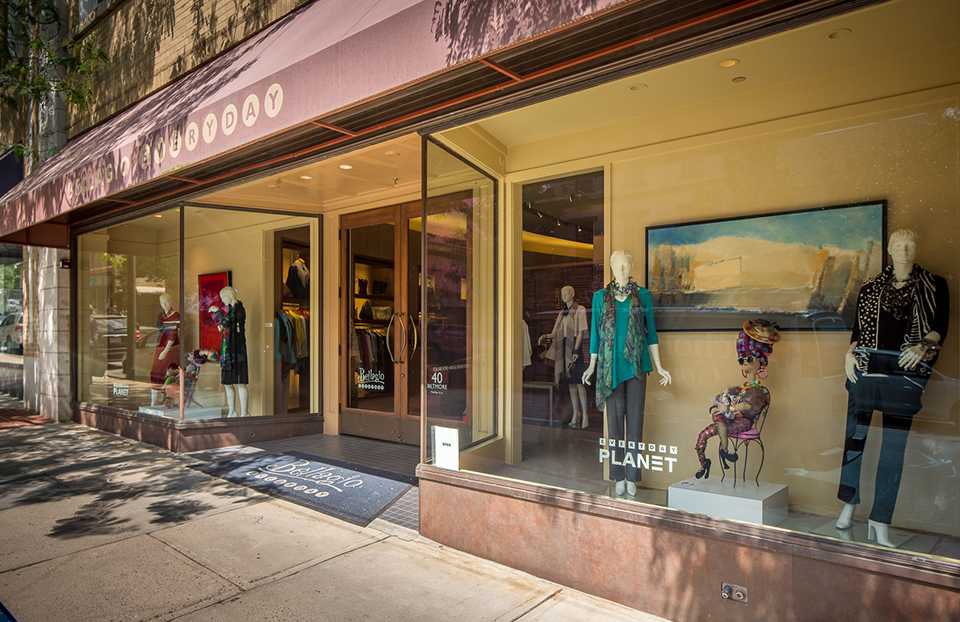 Our downtown Asheville store, Bellagio Everyday, specializes in clean, casual looks with great lines.