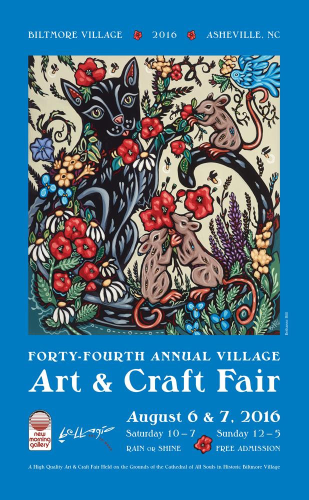 The 2016 edition of the Village Arts & Crafts Fair poster was illustrated by Bethanne Hill